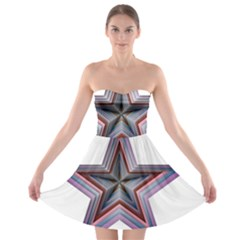 Star Abstract Geometric Art Strapless Bra Top Dress