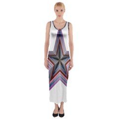 Star Abstract Geometric Art Fitted Maxi Dress