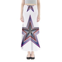 Star Abstract Geometric Art Maxi Skirts