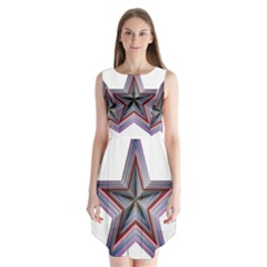 Star Abstract Geometric Art Sleeveless Chiffon Dress