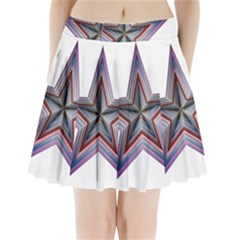 Star Abstract Geometric Art Pleated Mini Skirt
