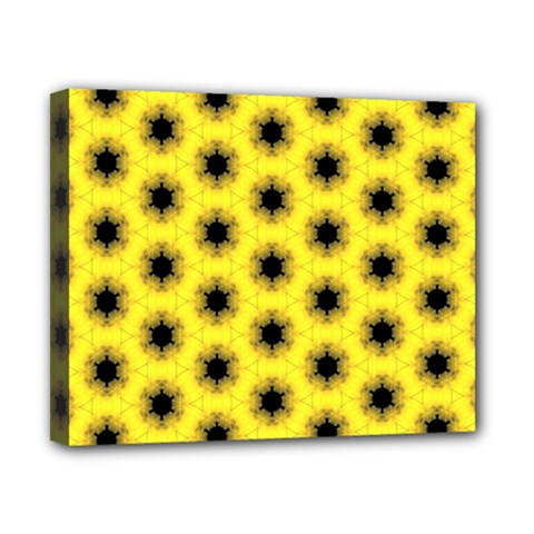 Yellow Fractal In Kaleidoscope Canvas 10  X 8