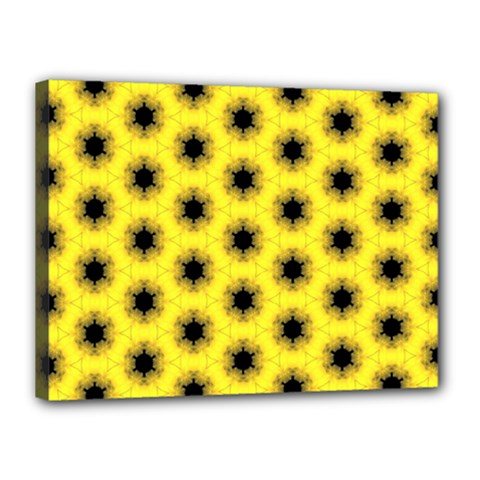 Yellow Fractal In Kaleidoscope Canvas 16  X 12