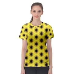 Yellow Fractal In Kaleidoscope Women s Sport Mesh Tee