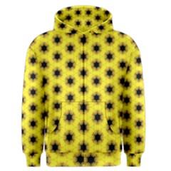 Yellow Fractal In Kaleidoscope Men s Zipper Hoodie