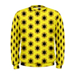 Yellow Fractal In Kaleidoscope Men s Sweatshirt