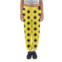 Yellow Fractal In Kaleidoscope Women s Jogger Sweatpants