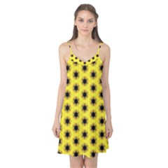 Yellow Fractal In Kaleidoscope Camis Nightgown