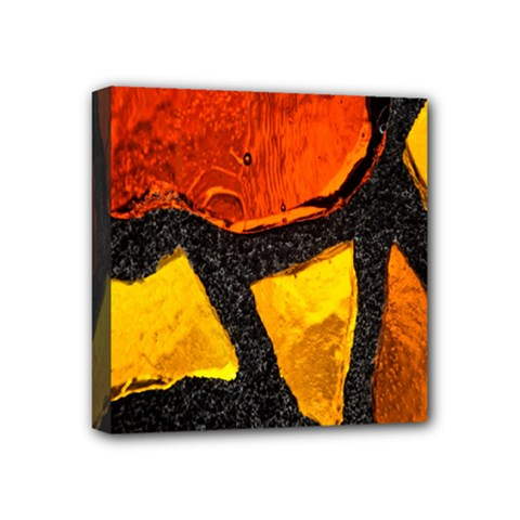 Colorful Glass Mosaic Art And Abstract Wall Background Mini Canvas 4  X 4