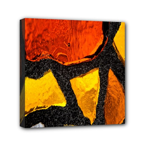 Colorful Glass Mosaic Art And Abstract Wall Background Mini Canvas 6  X 6