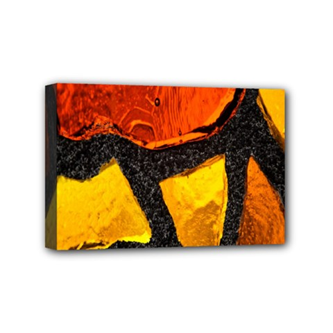 Colorful Glass Mosaic Art And Abstract Wall Background Mini Canvas 6  X 4