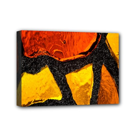 Colorful Glass Mosaic Art And Abstract Wall Background Mini Canvas 7  X 5