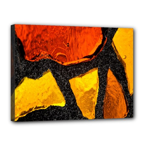 Colorful Glass Mosaic Art And Abstract Wall Background Canvas 16  X 12