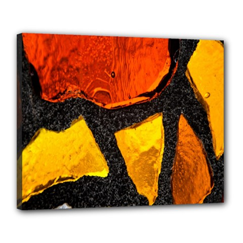 Colorful Glass Mosaic Art And Abstract Wall Background Canvas 20  X 16