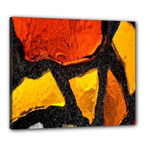 Colorful Glass Mosaic Art And Abstract Wall Background Canvas 24  X 20