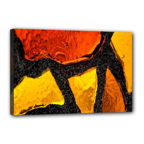 Colorful Glass Mosaic Art And Abstract Wall Background Canvas 18  X 12