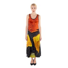 Colorful Glass Mosaic Art And Abstract Wall Background Sleeveless Maxi Dress