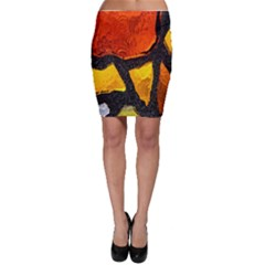 Colorful Glass Mosaic Art And Abstract Wall Background Bodycon Skirt