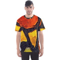 Colorful Glass Mosaic Art And Abstract Wall Background Men s Sport Mesh Tee