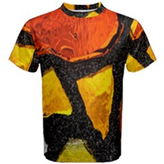 Colorful Glass Mosaic Art And Abstract Wall Background Men s Cotton Tee