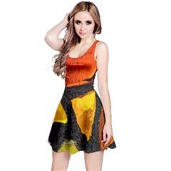 Colorful Glass Mosaic Art And Abstract Wall Background Reversible Sleeveless Dress
