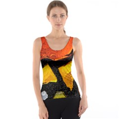 Colorful Glass Mosaic Art And Abstract Wall Background Tank Top