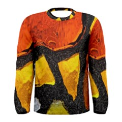 Colorful Glass Mosaic Art And Abstract Wall Background Men s Long Sleeve Tee