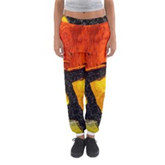 Colorful Glass Mosaic Art And Abstract Wall Background Women s Jogger Sweatpants