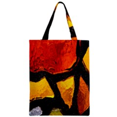 Colorful Glass Mosaic Art And Abstract Wall Background Zipper Classic Tote Bag