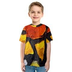 Colorful Glass Mosaic Art And Abstract Wall Background Kids  Sport Mesh Tee