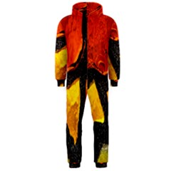 Colorful Glass Mosaic Art And Abstract Wall Background Hooded Jumpsuit (Men)