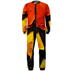 Colorful Glass Mosaic Art And Abstract Wall Background Onepiece Jumpsuit (men)
