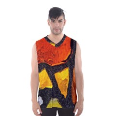 Colorful Glass Mosaic Art And Abstract Wall Background Men s Basketball Tank Top