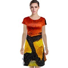 Colorful Glass Mosaic Art And Abstract Wall Background Cap Sleeve Nightdress