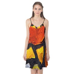 Colorful Glass Mosaic Art And Abstract Wall Background Camis Nightgown