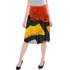 Colorful Glass Mosaic Art And Abstract Wall Background Midi Beach Skirt