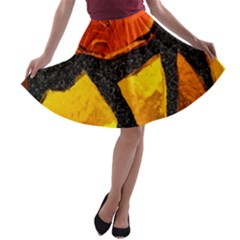 Colorful Glass Mosaic Art And Abstract Wall Background A Line Skater Skirt
