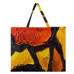 Colorful Glass Mosaic Art And Abstract Wall Background Zipper Large Tote Bag