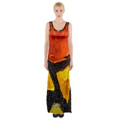 Colorful Glass Mosaic Art And Abstract Wall Background Maxi Thigh Split Dress