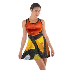 Colorful Glass Mosaic Art And Abstract Wall Background Cotton Racerback Dress