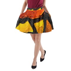 Colorful Glass Mosaic Art And Abstract Wall Background A-Line Pocket Skirt