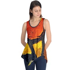 Colorful Glass Mosaic Art And Abstract Wall Background Sleeveless Tunic