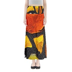 Colorful Glass Mosaic Art And Abstract Wall Background Maxi Skirts