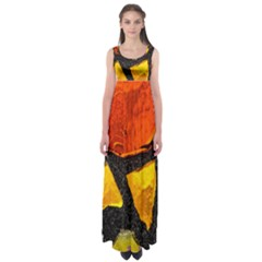 Colorful Glass Mosaic Art And Abstract Wall Background Empire Waist Maxi Dress