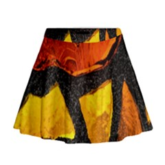 Colorful Glass Mosaic Art And Abstract Wall Background Mini Flare Skirt