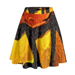 Colorful Glass Mosaic Art And Abstract Wall Background High Waist Skirt