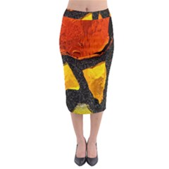 Colorful Glass Mosaic Art And Abstract Wall Background Midi Pencil Skirt