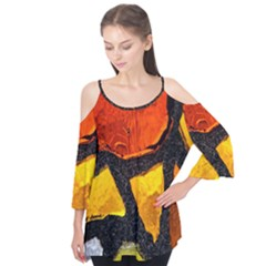 Colorful Glass Mosaic Art And Abstract Wall Background Flutter Tees