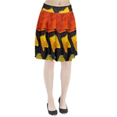 Colorful Glass Mosaic Art And Abstract Wall Background Pleated Skirt