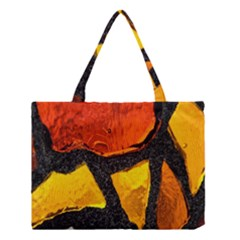 Colorful Glass Mosaic Art And Abstract Wall Background Medium Tote Bag